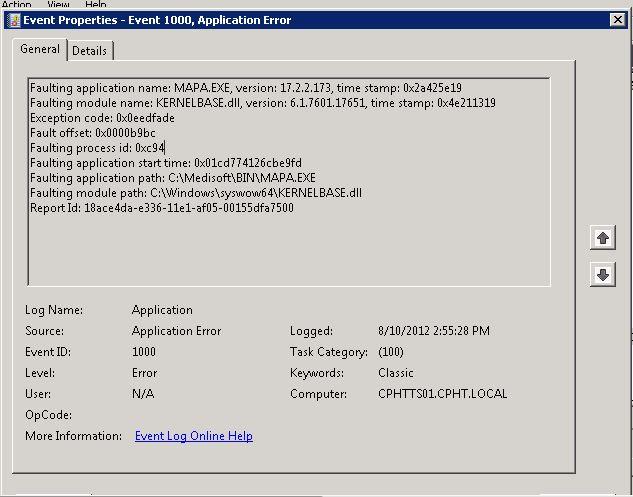 KERNELBASE DLL Application Error - Free Medisoft Tech Help- Medisoft
